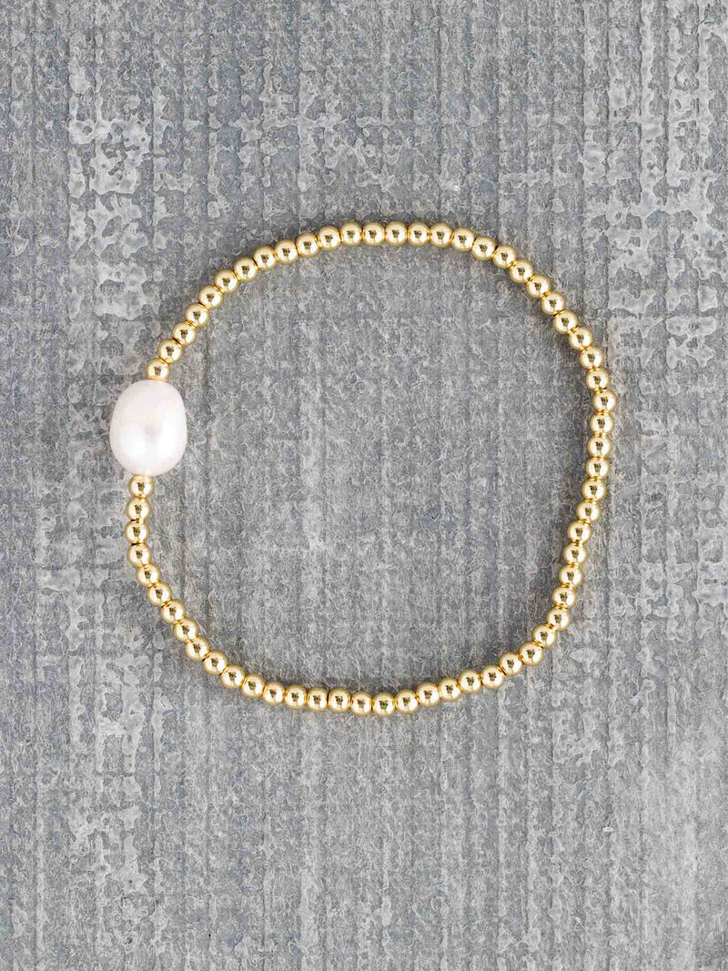 Marlyn Schiff Stretch Pearl Bead Strand image number 0