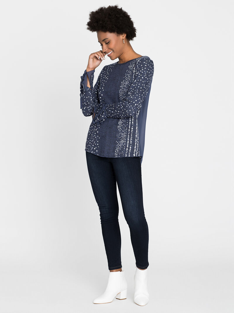 Dotted Line Cuffed Top image number 3