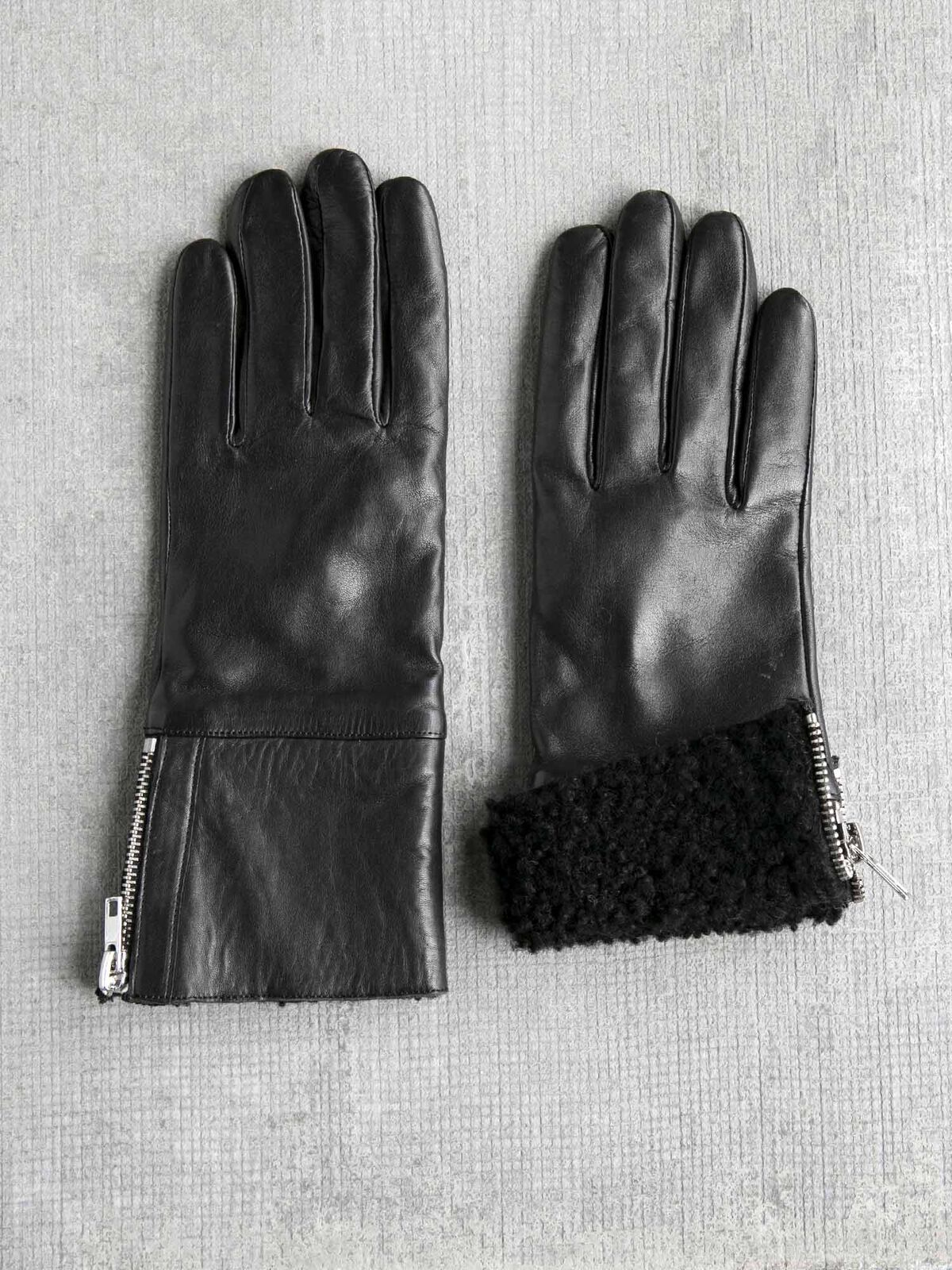 Amato Shearling Glove With Side Zip
