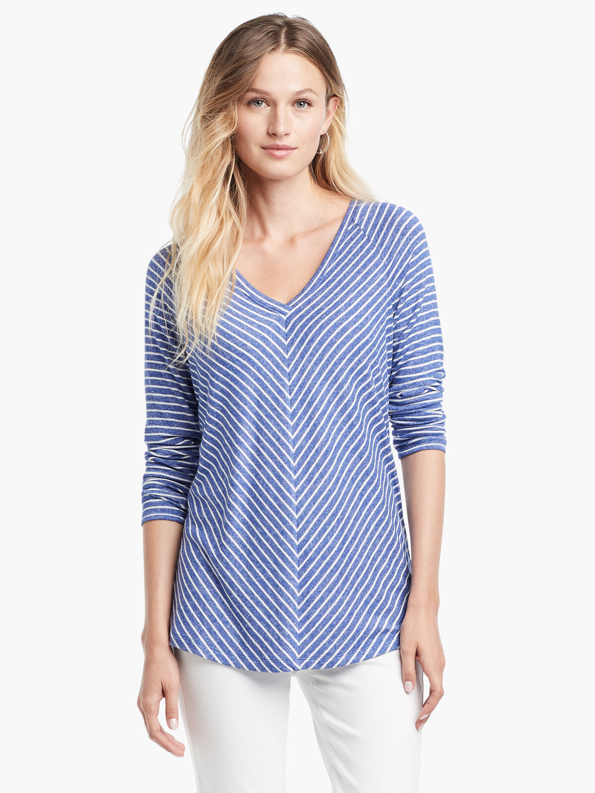 Angled Relax Stripes Top