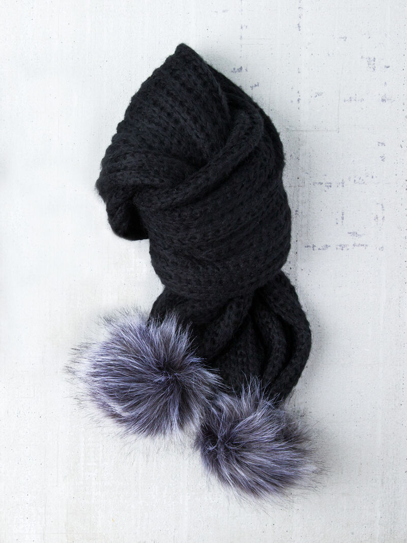 SOFT RIB SLOUCHY SCARF BY HAT ATTACK image number 0