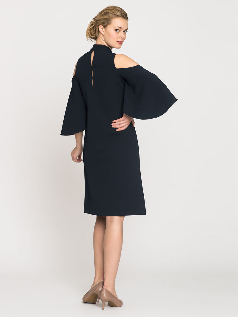 Textured Flutter Sleeve Dress image number 1