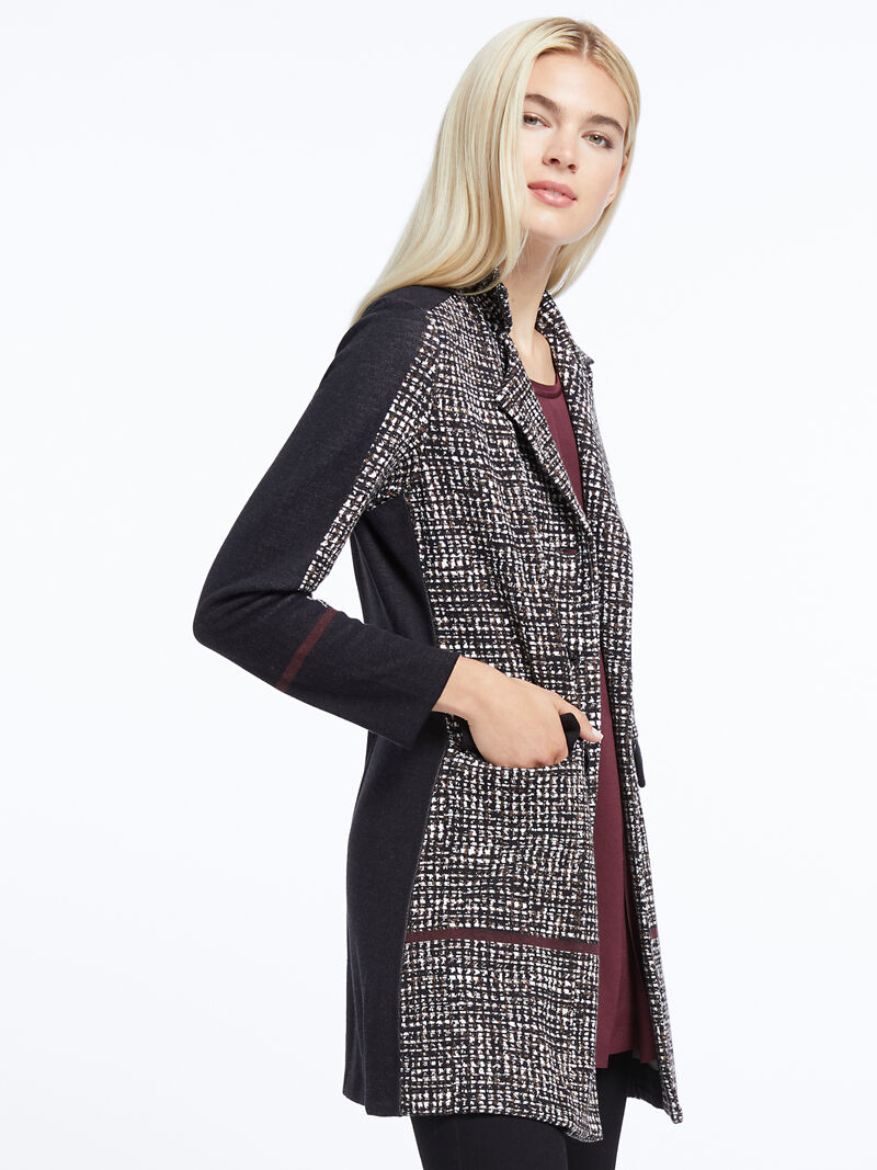 Abstract Tweed Jacket image number 1