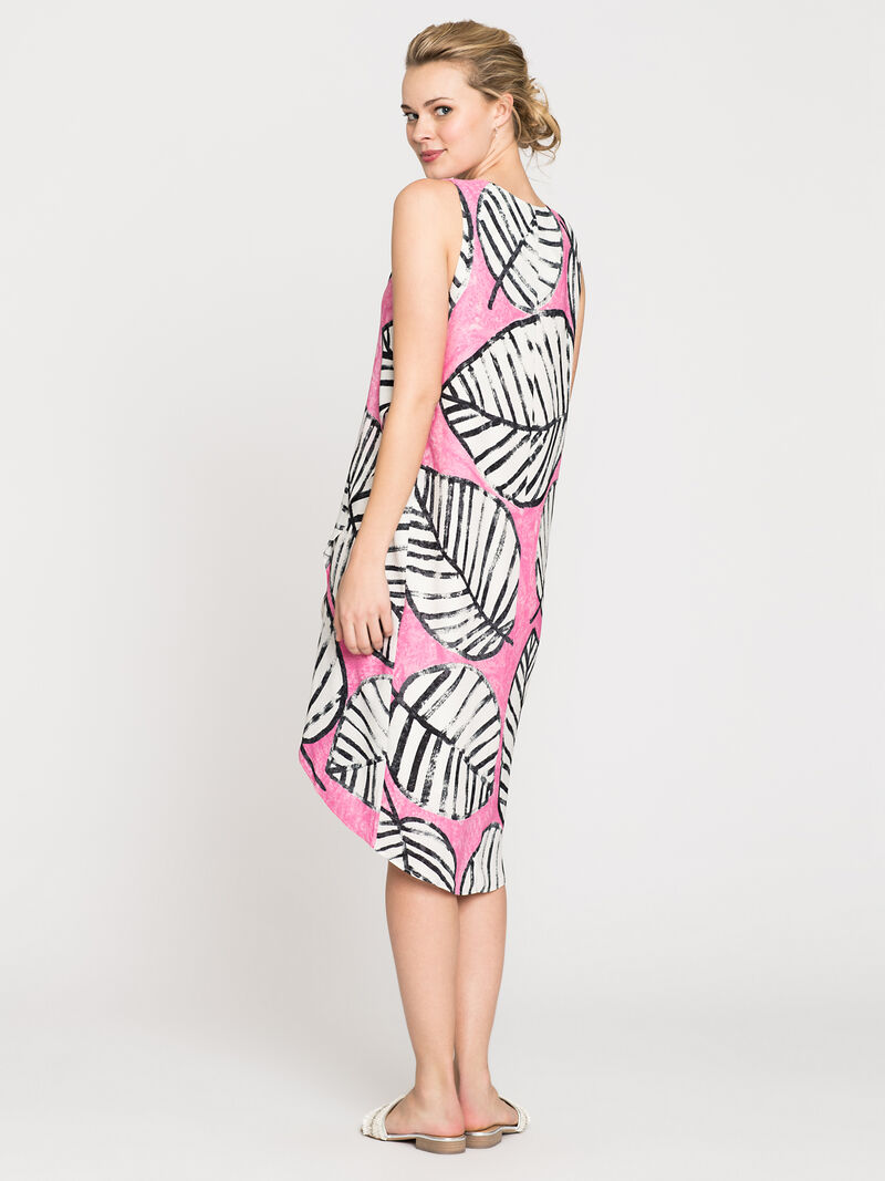 Etched Leaves Wrap Dress image number 1