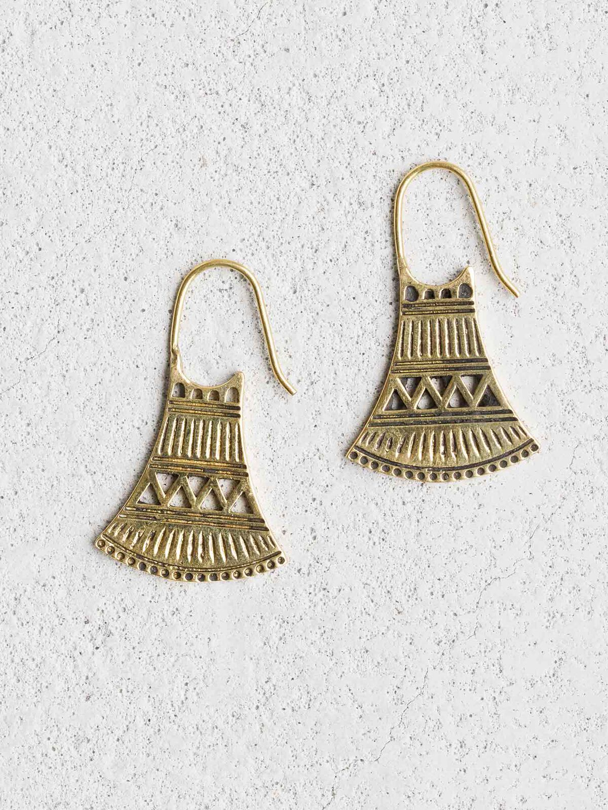 BAIZAAR TRIBAL BELL EARRING