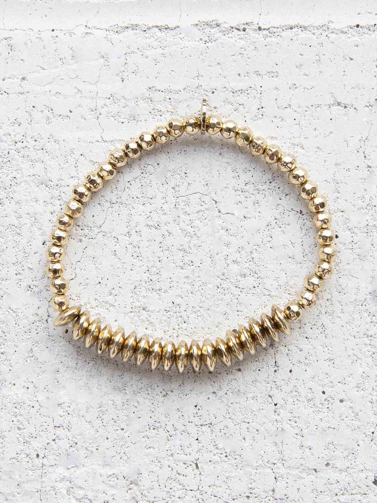 Marlyn Schiff Metal Disc Bracelet