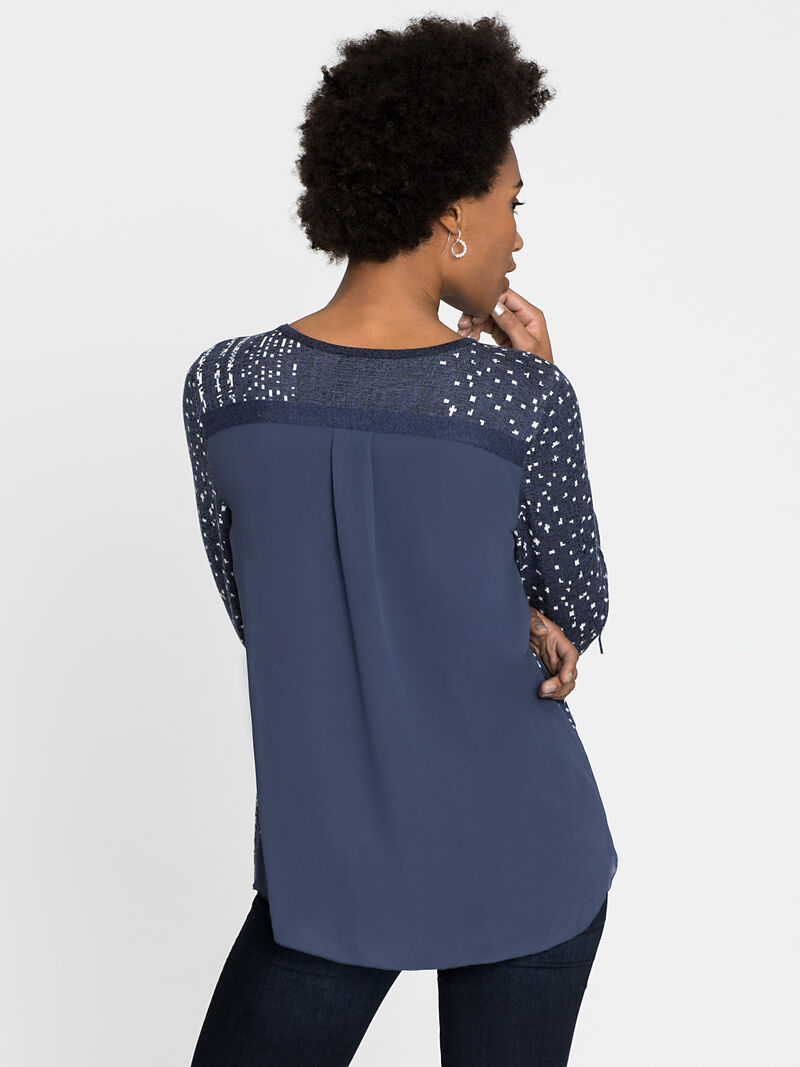 Dotted Line Cuffed Top image number 2