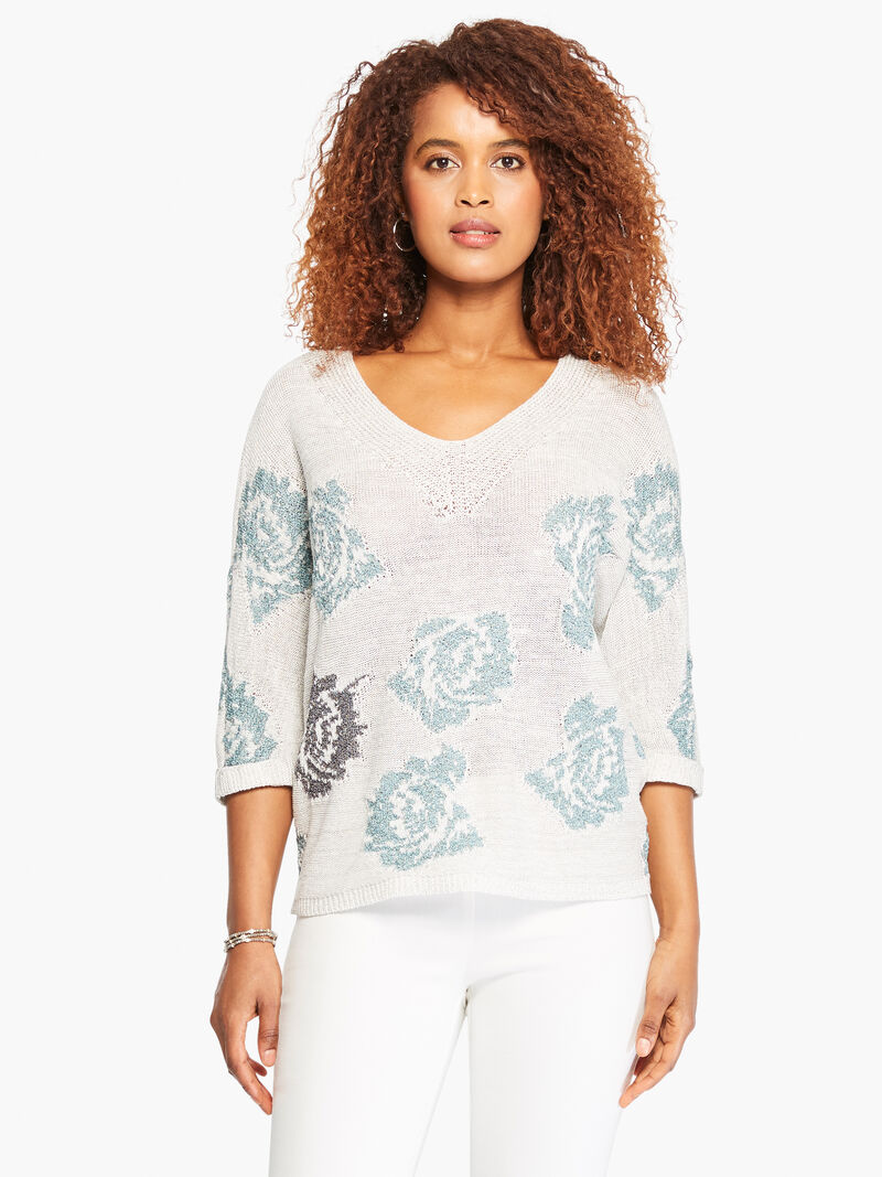 Shimmer Bloom Sweater