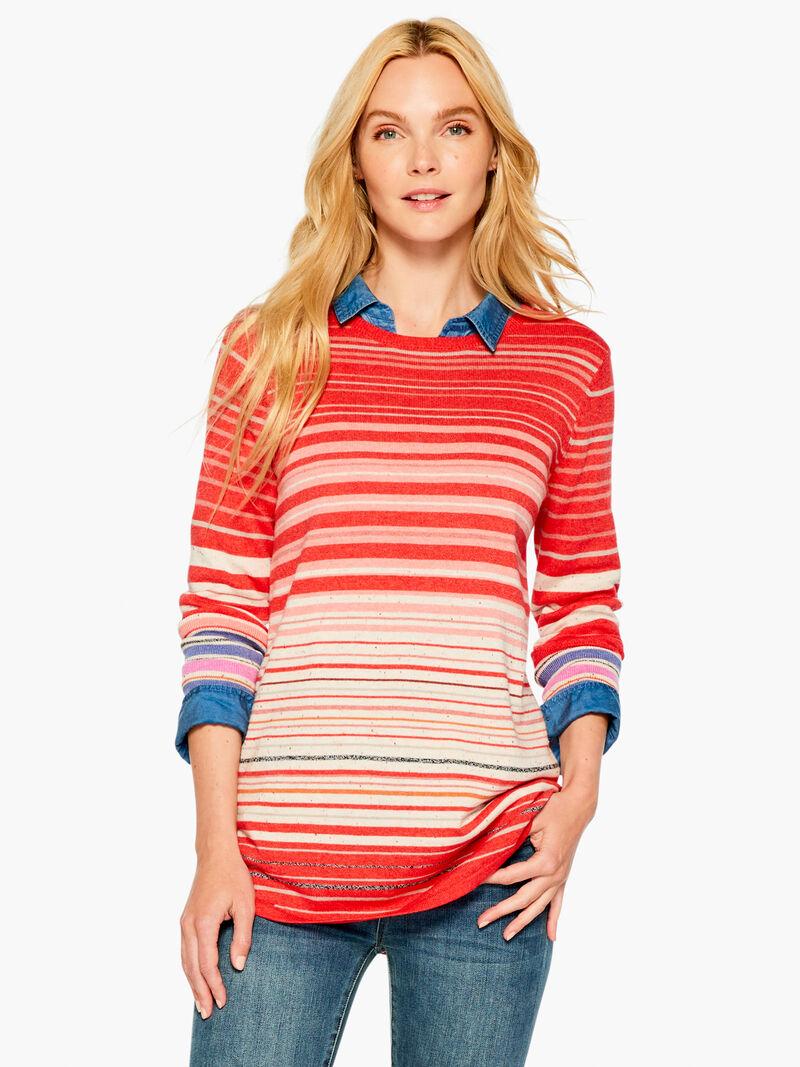 Punchy Stripes Vital Crewneck Sweater