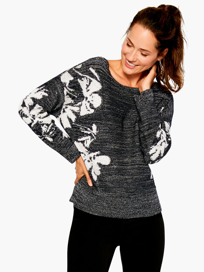 Shimmer Petals Sweater