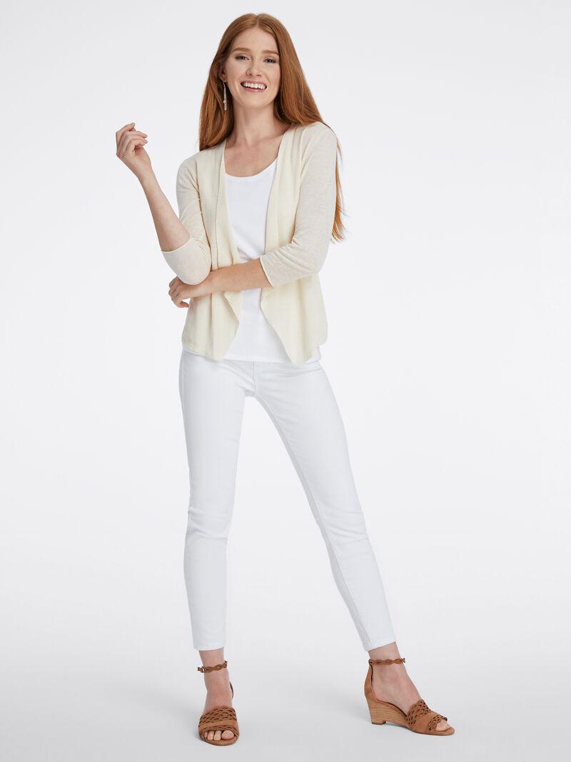 Lightweight Knit Blazer Cardigan image number 3