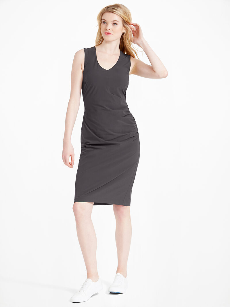 Tech Stretch Ruche Dress image number 1