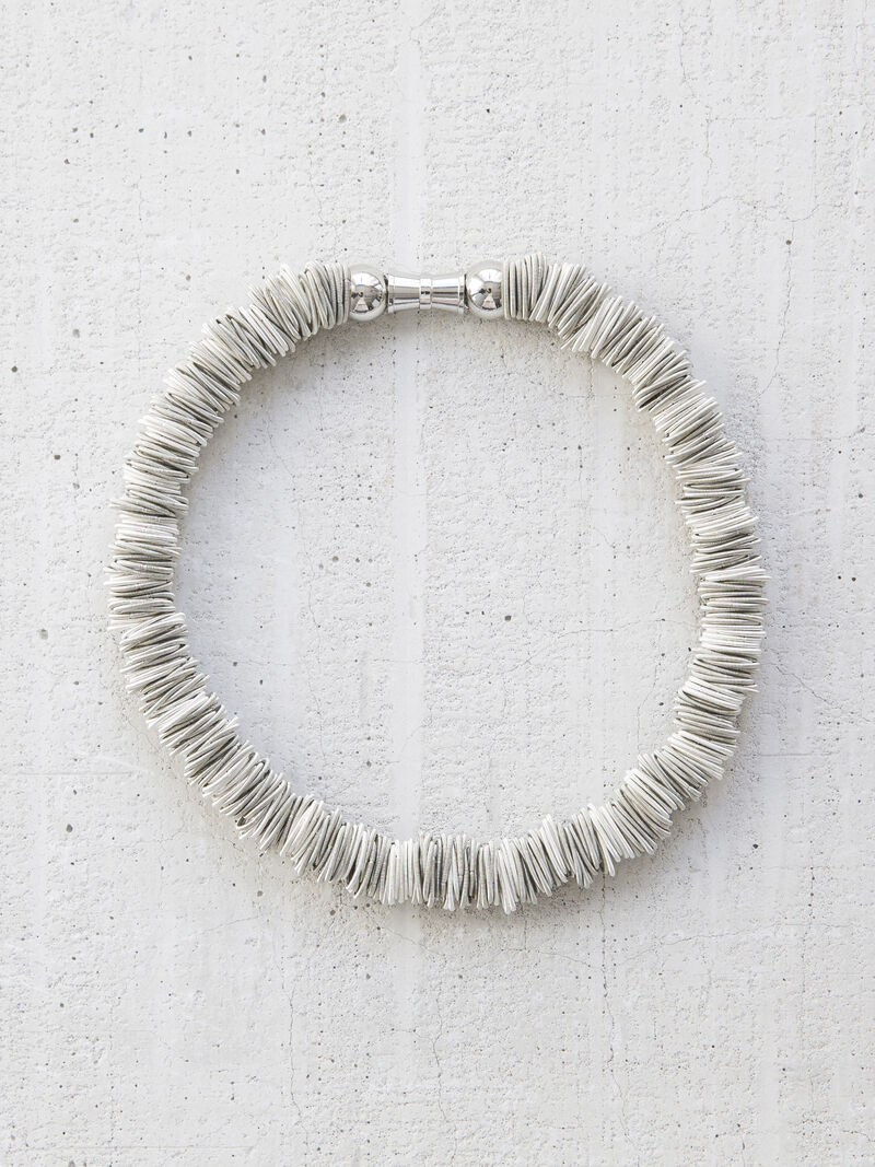 Chunky Links Piano Wire Statement Necklace