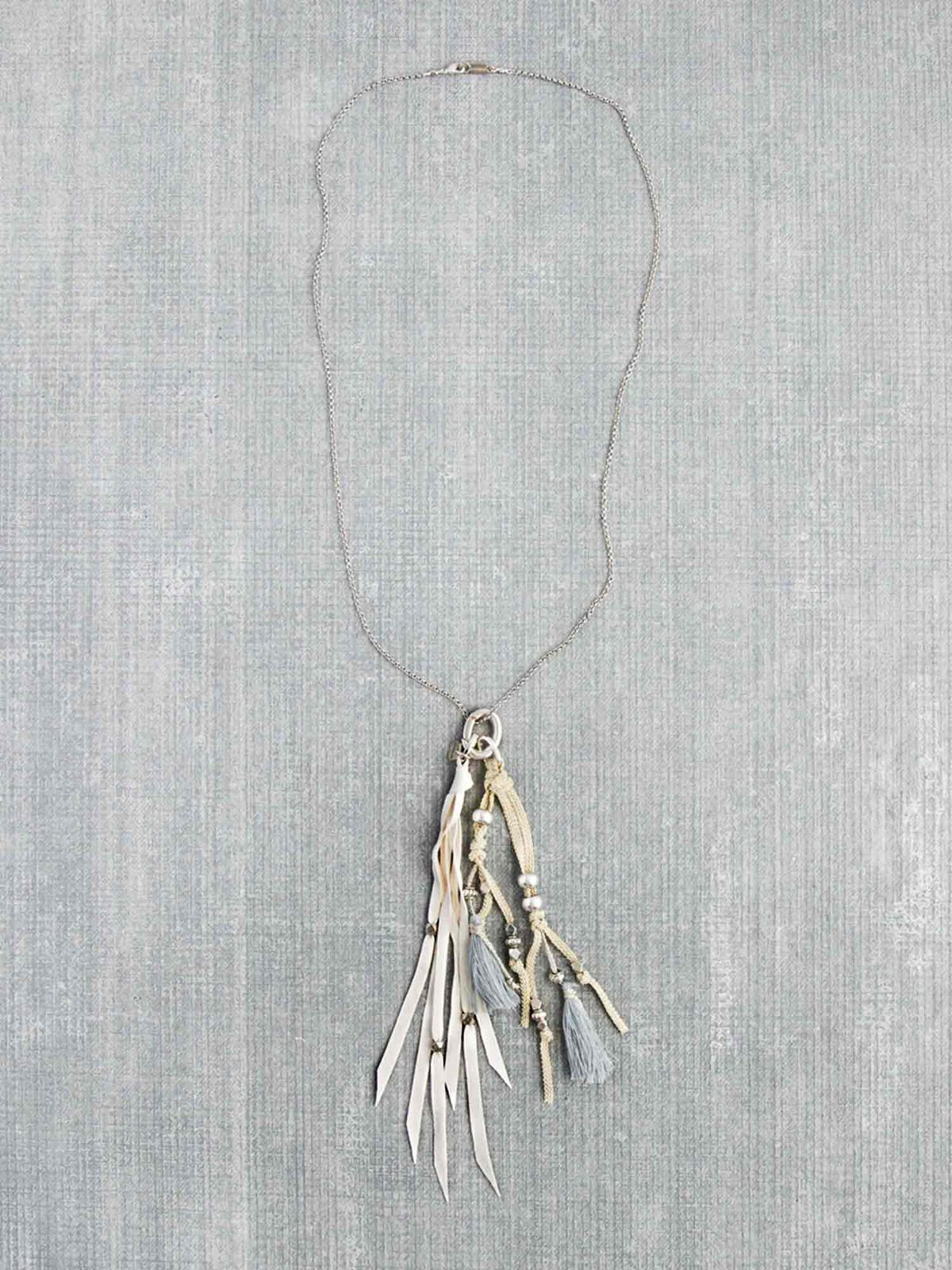 Chan Luu Leather Tassel Necklace