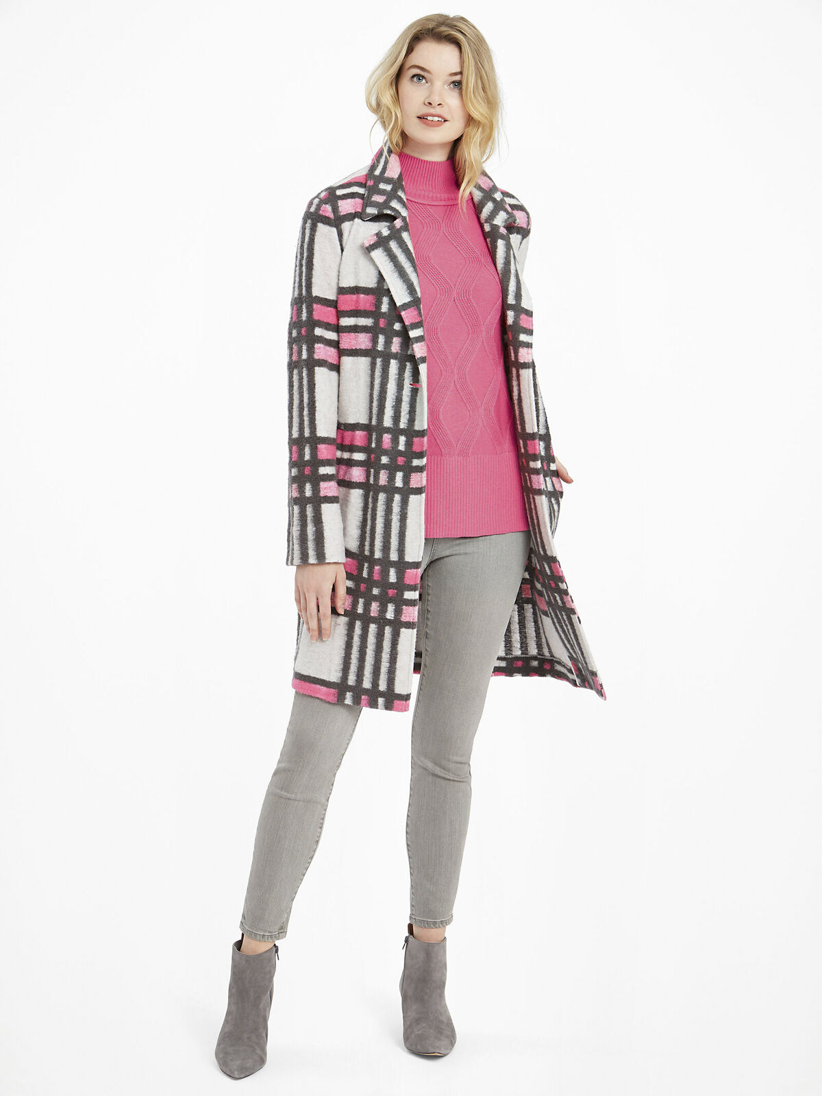 Check Pop Coat