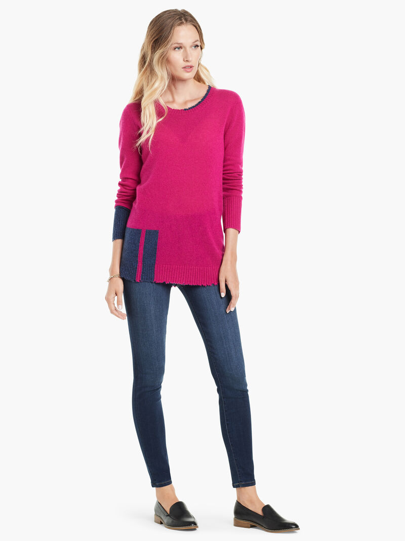 Colorblock Cashmere Sweater image number 3