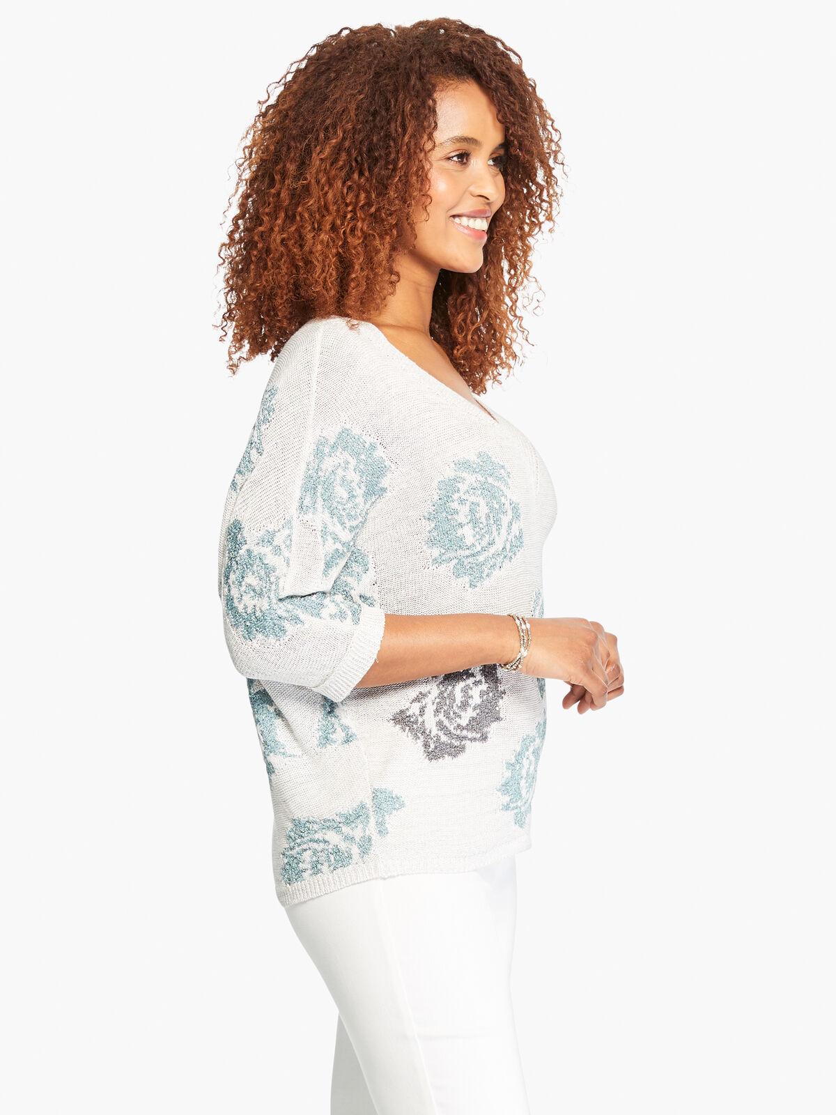 Shimmer Bloom Sweater