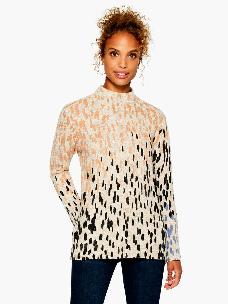 Cozy Up Spotted Turtleneck
