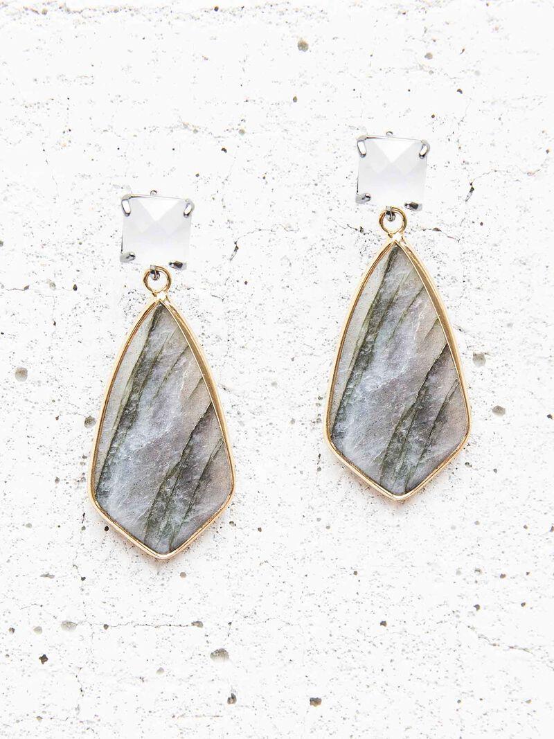 Nakamol Stone Teardrop Earrings