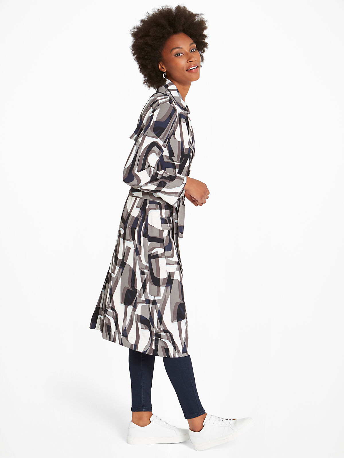 Alphabet Trench Dress