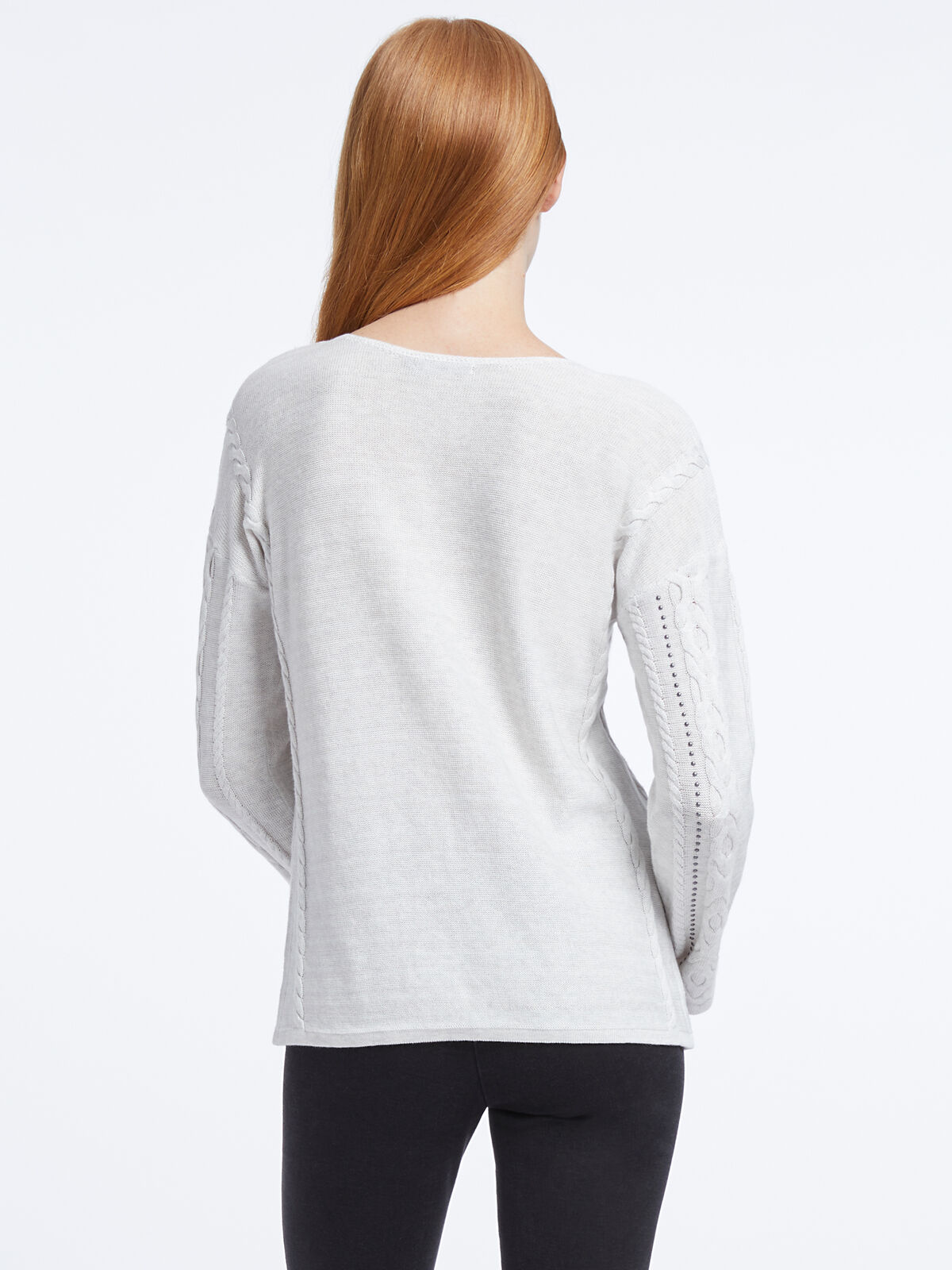 Cable Stud Sweater