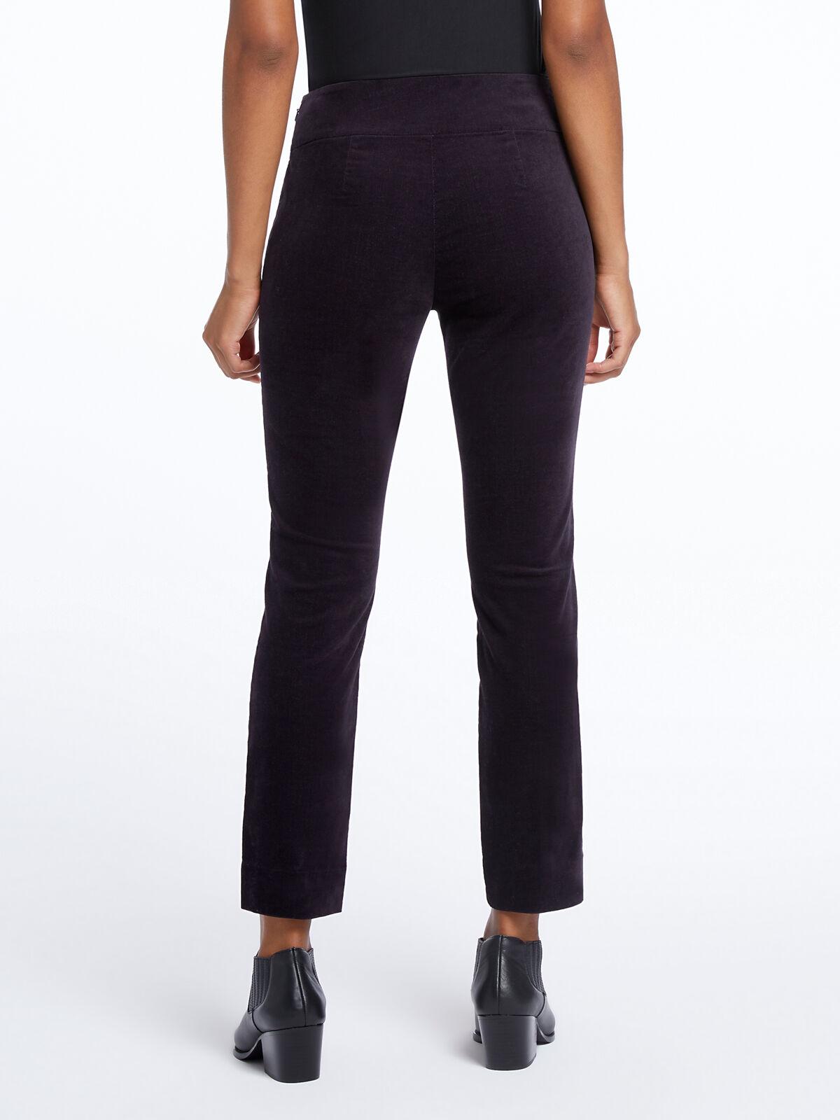 Stretch Velvet Side Zip Pant