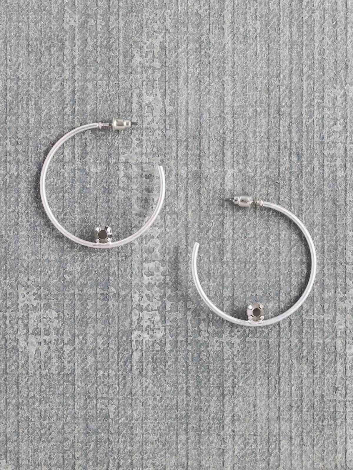 Marlyn Schiff Single Stone Hoop Earring
