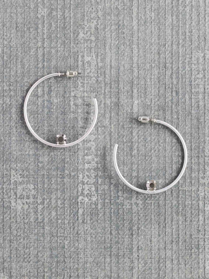 Marlyn Schiff Single Stone Hoop Earring