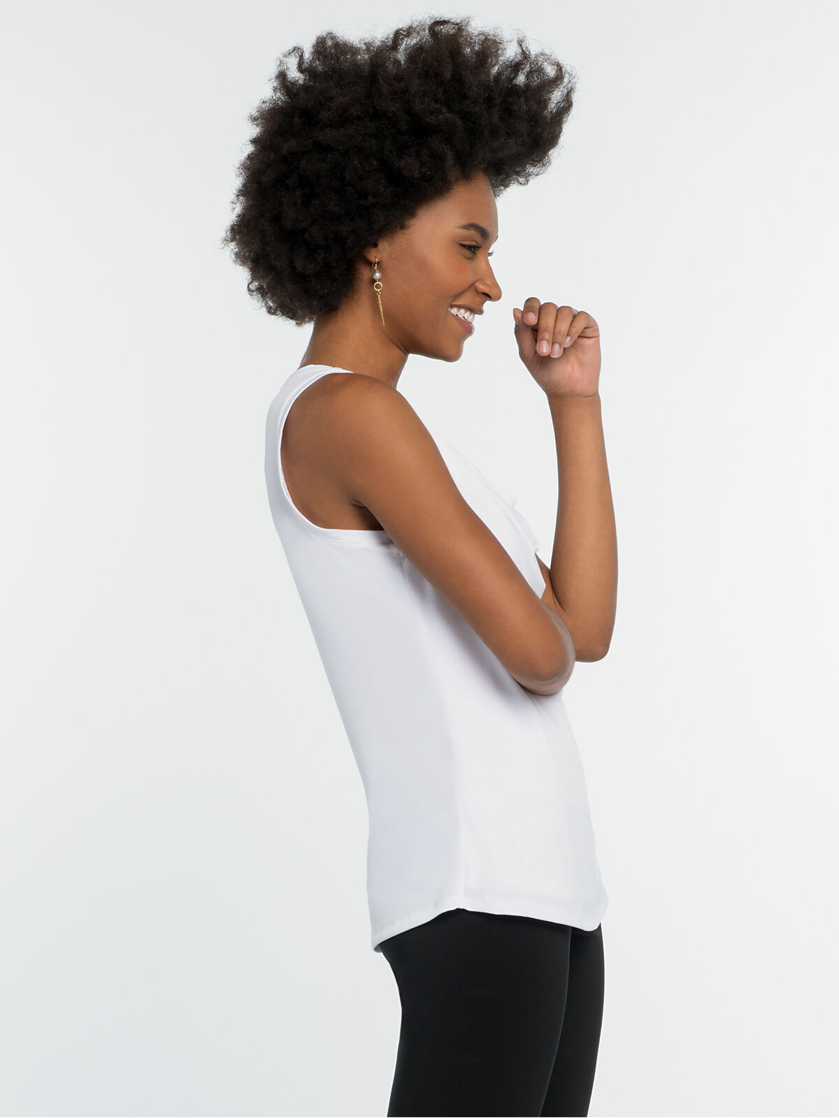 High Twist Drape Tank