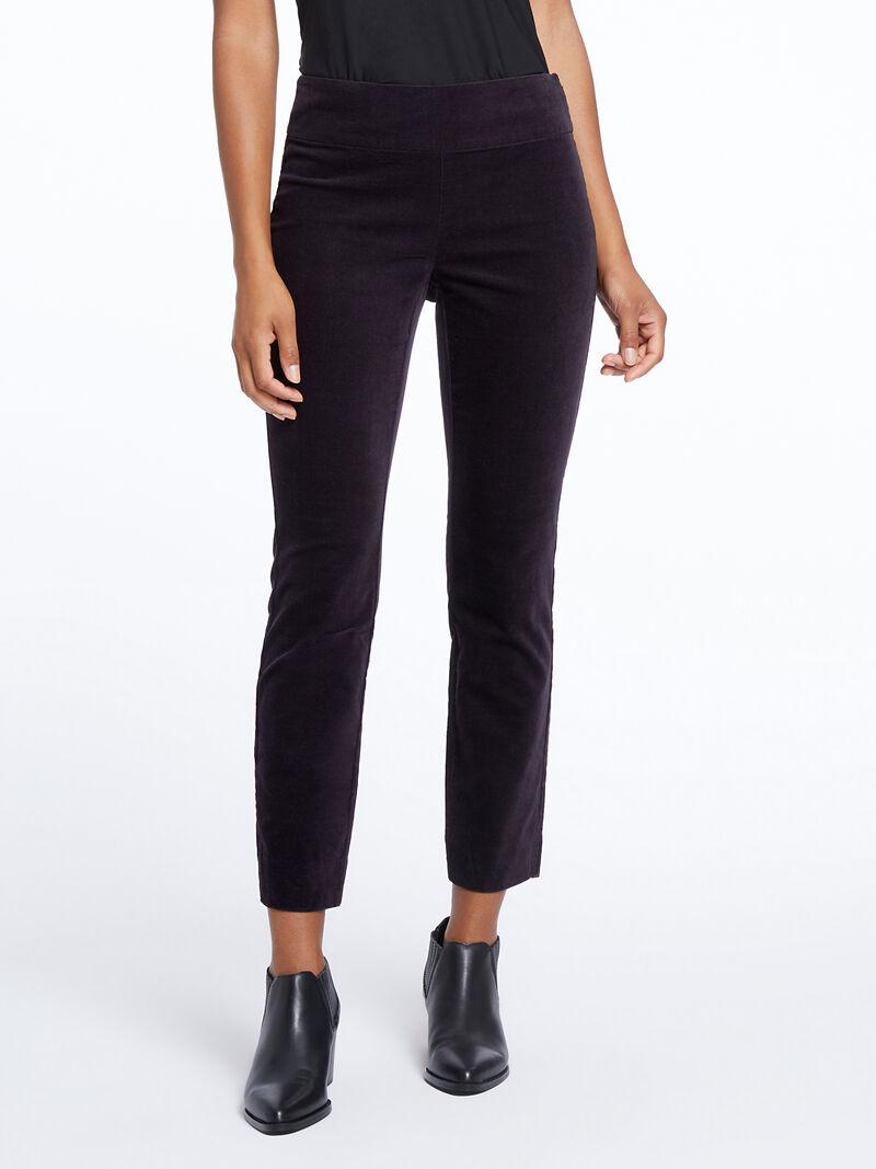 Stretch Velvet Side Zip Pant image number 1