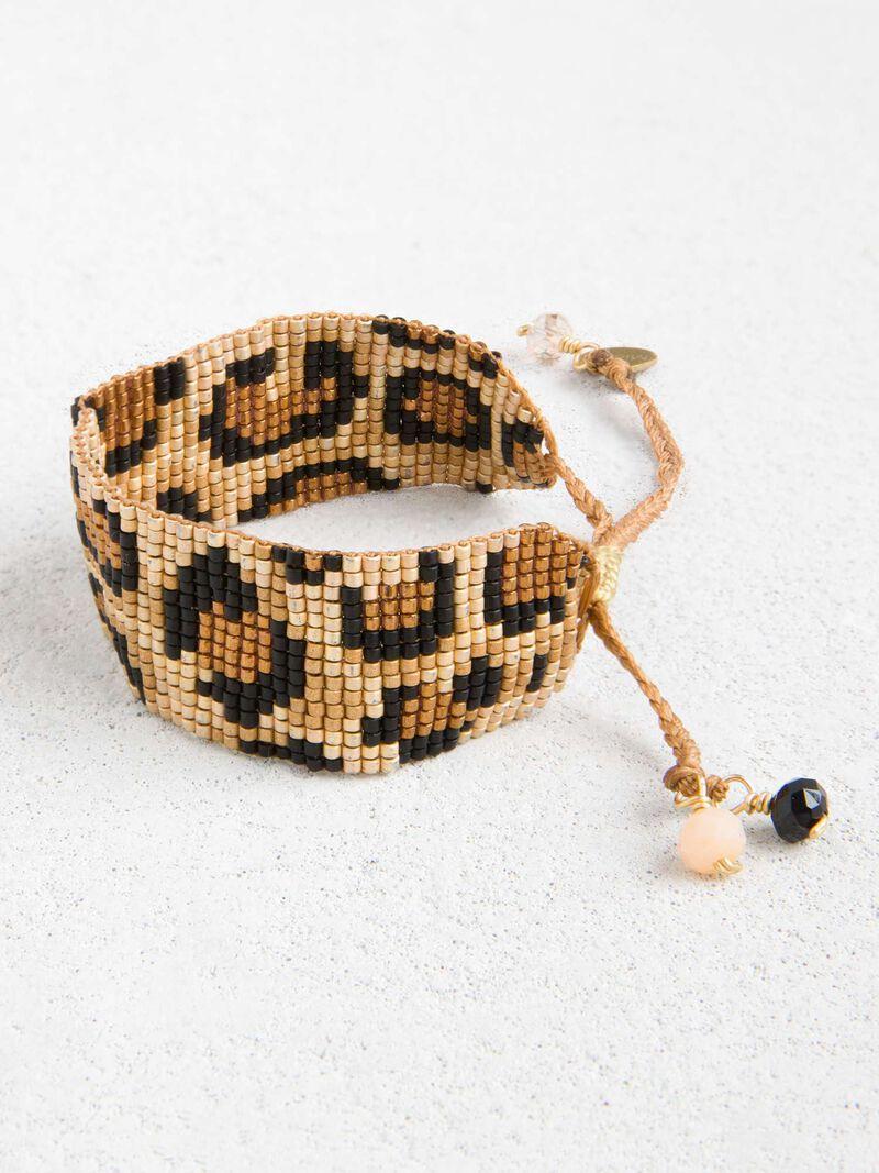 Mishky - Leopard Print Beaded Bracelet image number 0