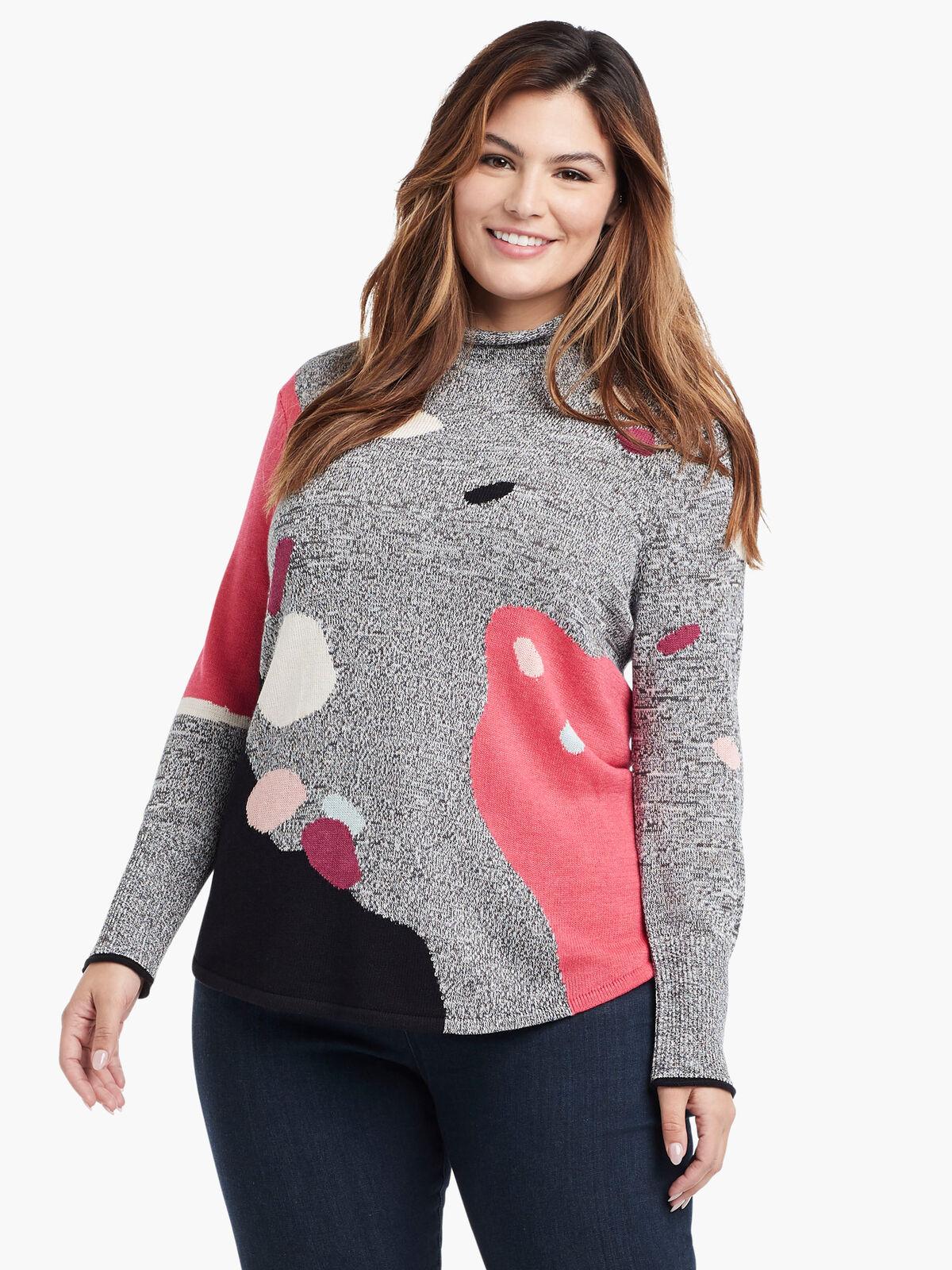Abstract Intarsia Sweater