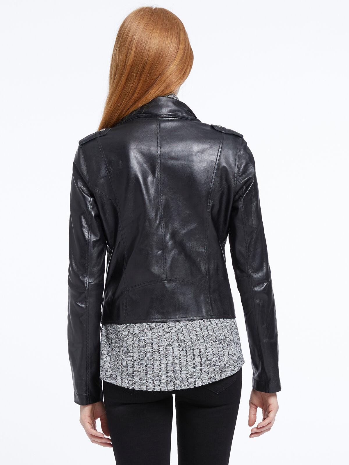 Jakett Washable Leather Moto Jacket