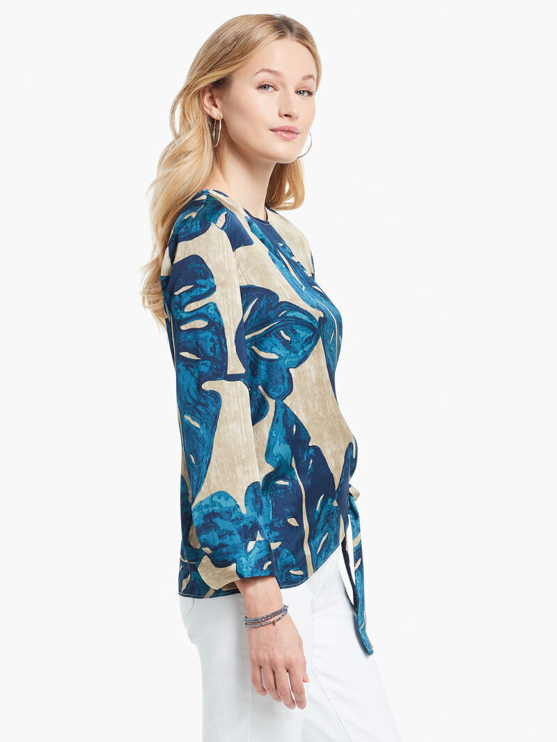 Falling Fronds Tie Blouse image number 1