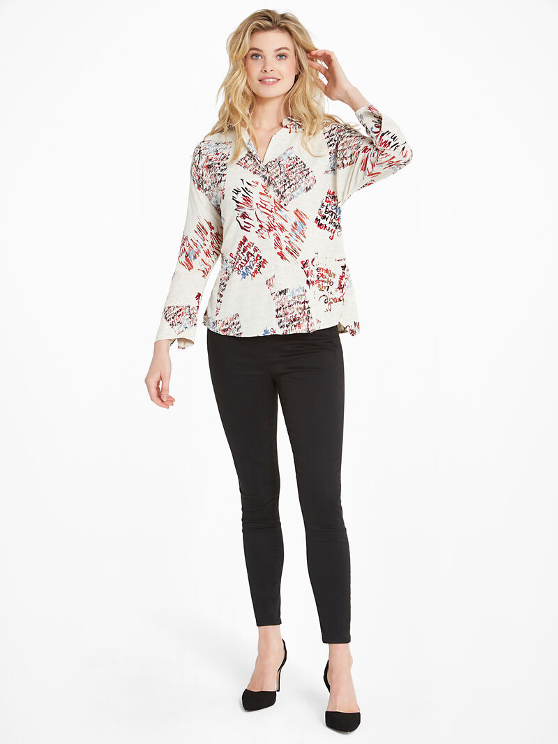 Scattered Letters Blouse image number 3