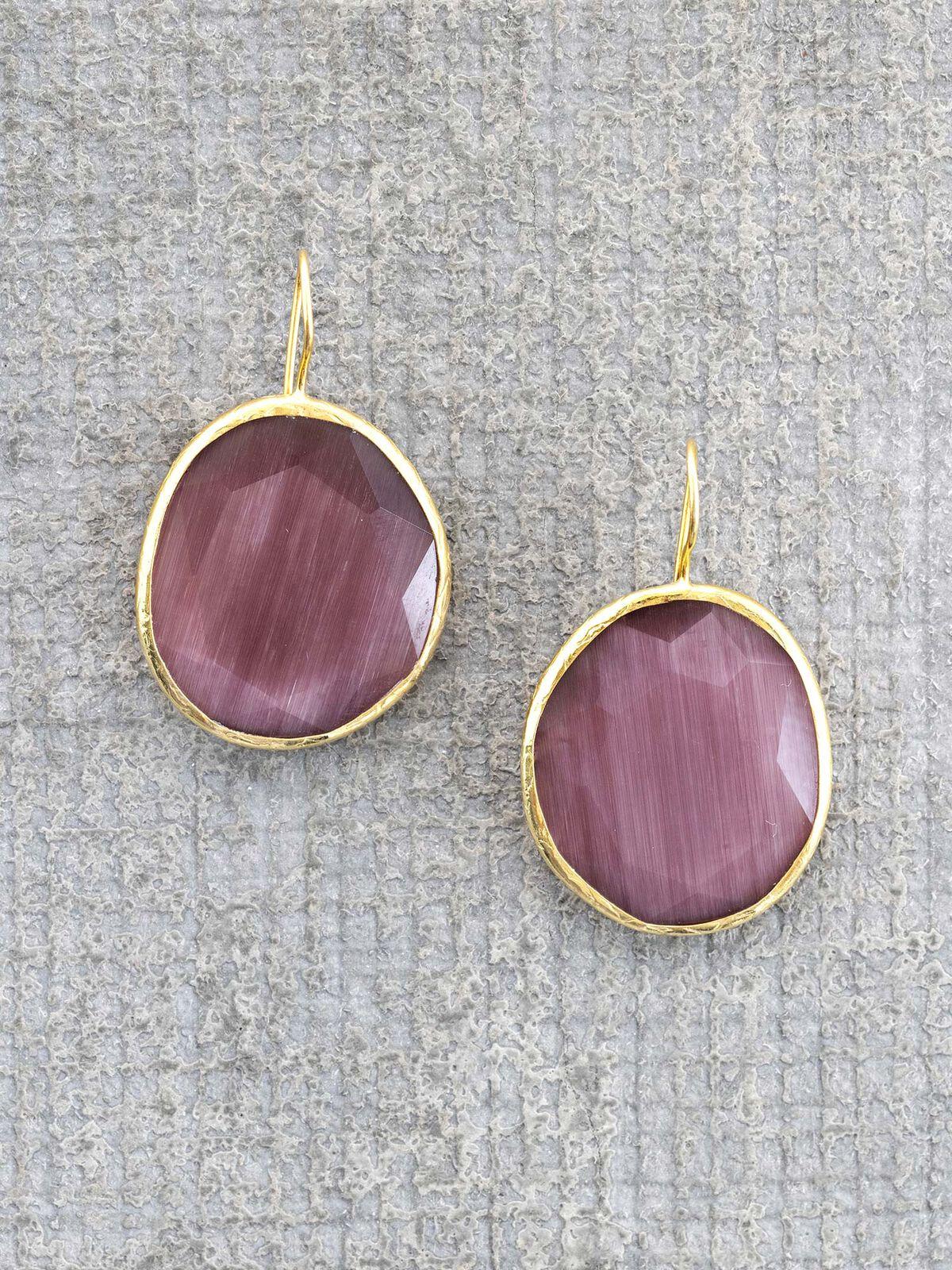 Marlyn Schiff Sterling Glass Earring