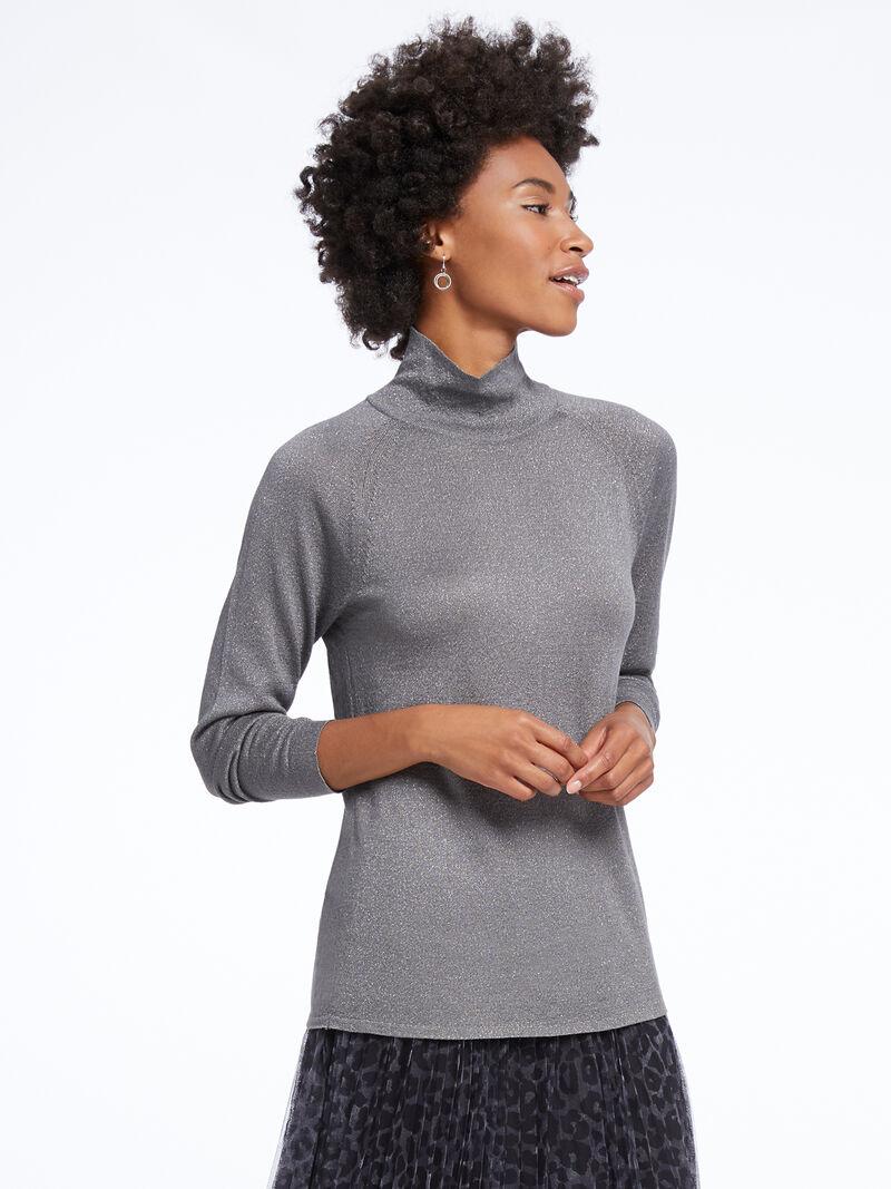 Metallic Turtleneck Sweater image number 1