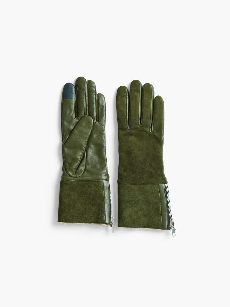 Amato Shearling Glove With Side Zip image number 0