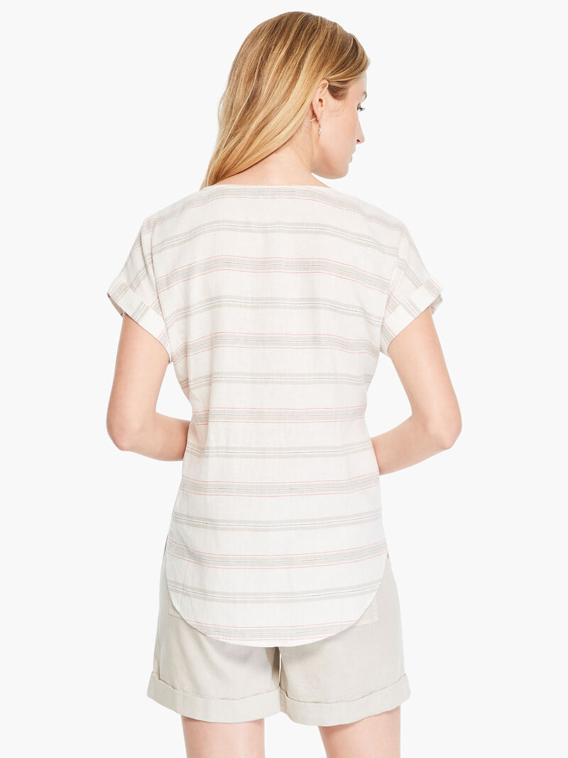 Embroidered Stripe Top image number 2