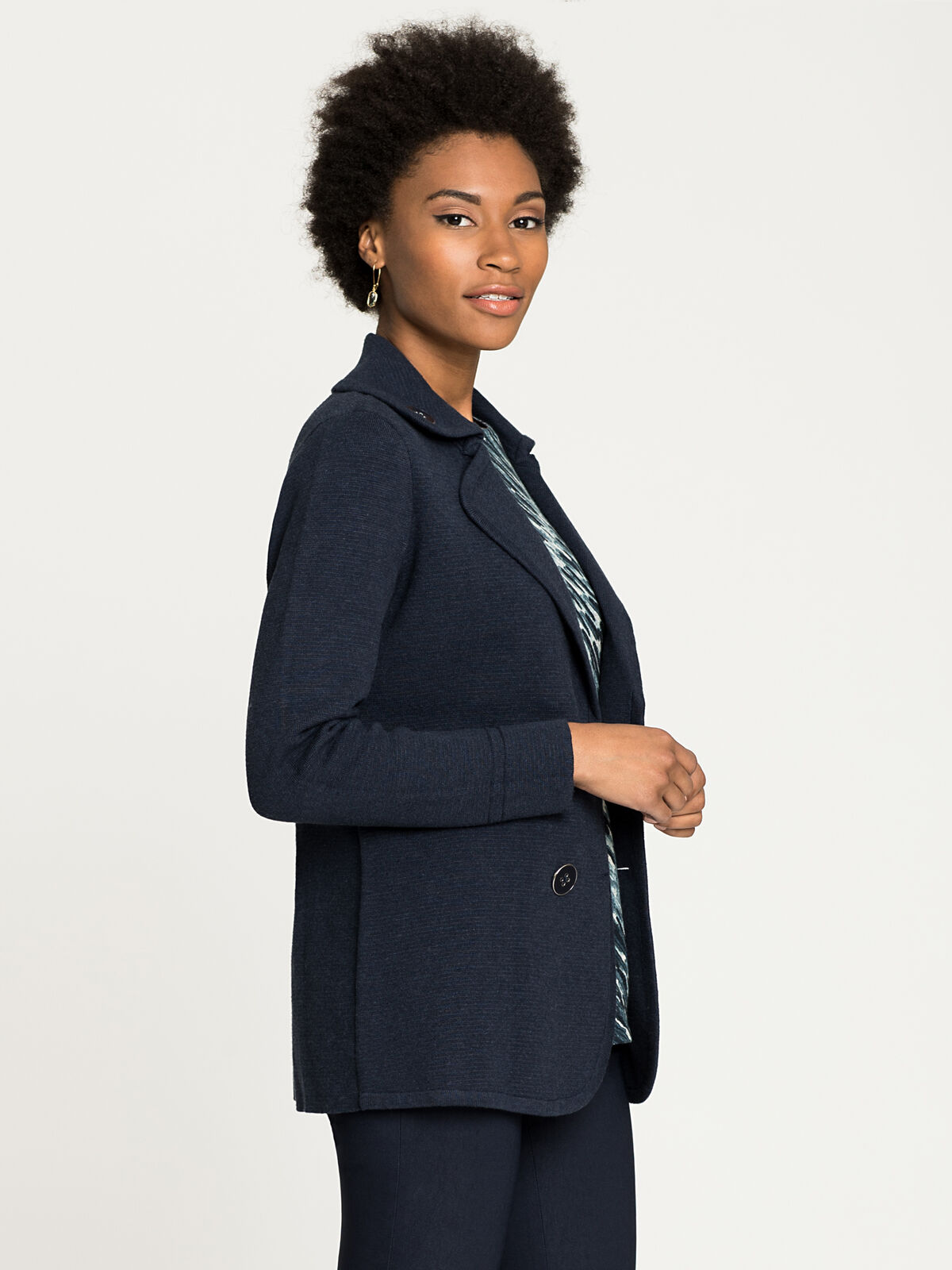 Polished Peacoat Jacket