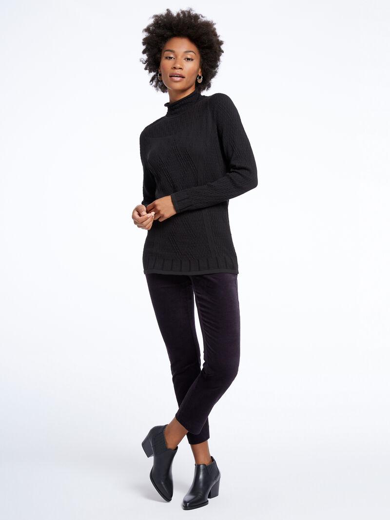 Stretch Velvet Side Zip Pant image number 0