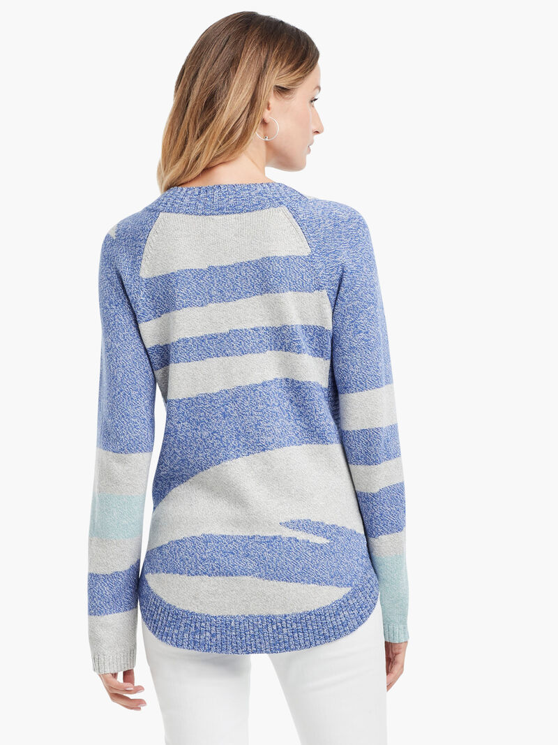 Abstract Stripe Sweater image number 2