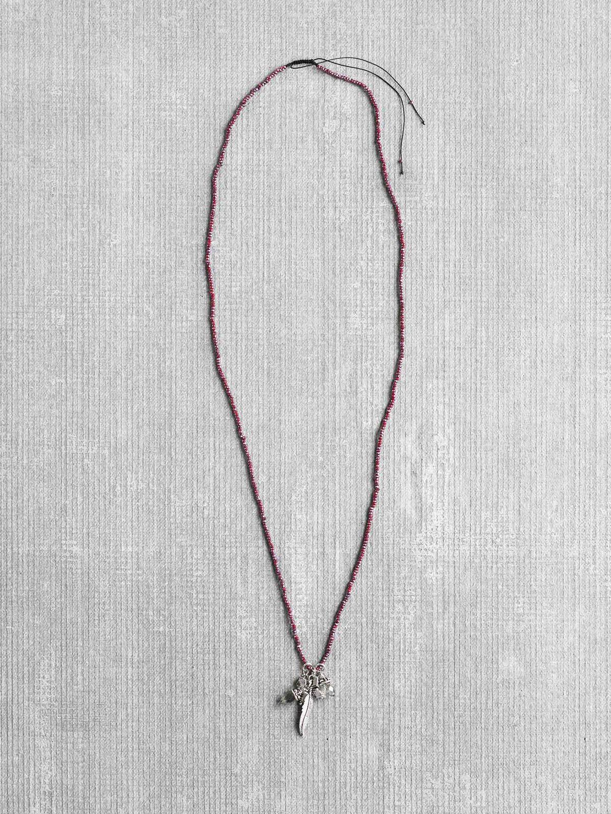Marlyn Schiff Charm Tassel Necklace