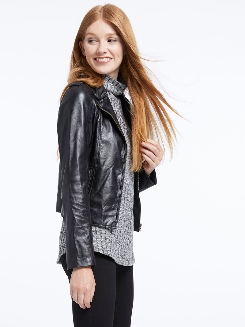 Jakett Washable Leather Moto Jacket