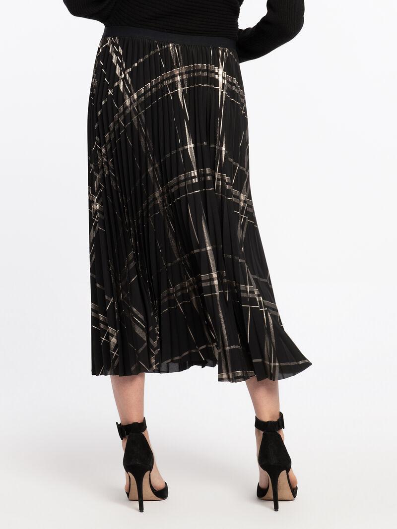 Pleated Plaid Skirt image number 3