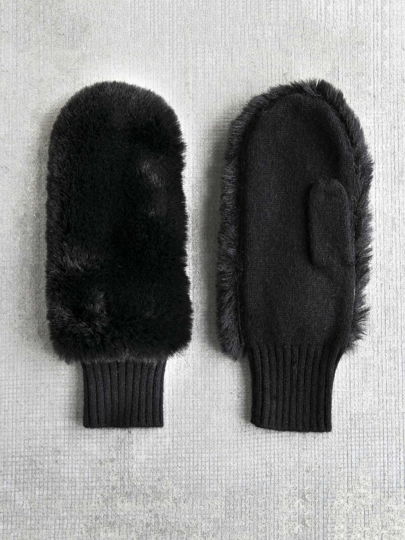 Amato Faux Fur Mitten image number 0