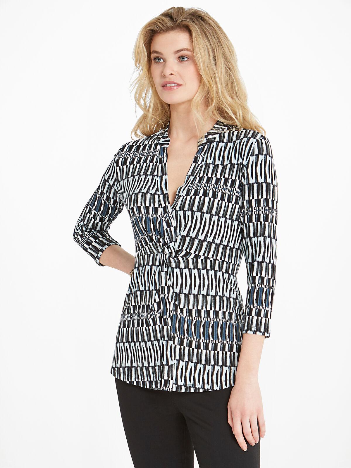 Batik Stripe Top