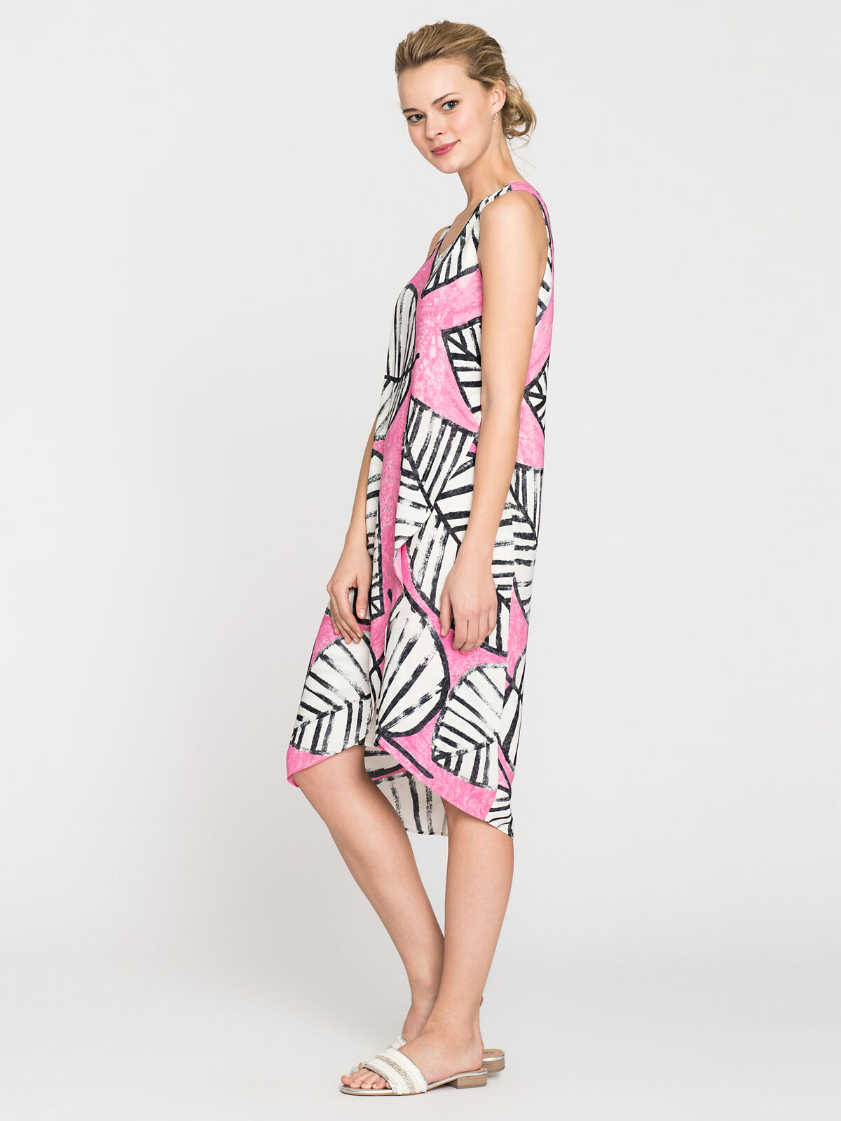 Etched Leaves Wrap Dress