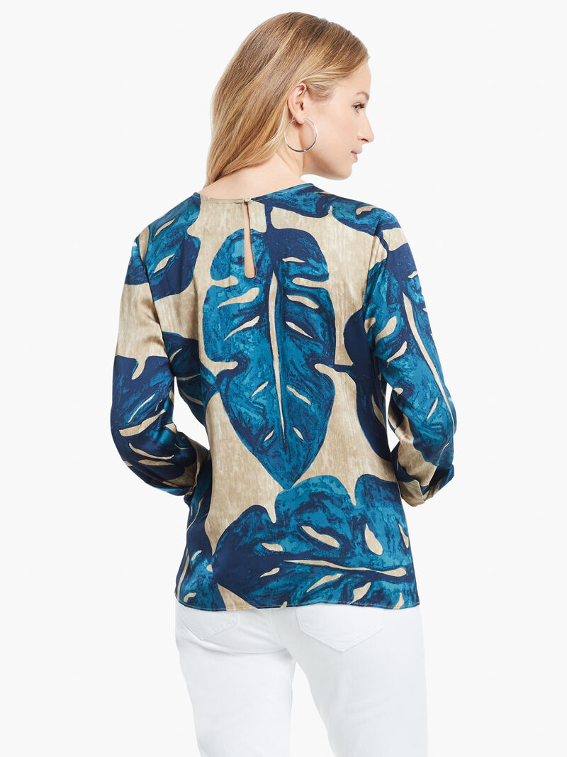 Falling Fronds Tie Blouse image number 2