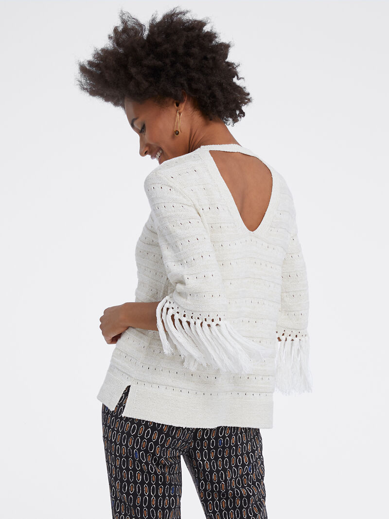 Fringe Cuff Sweater image number 2